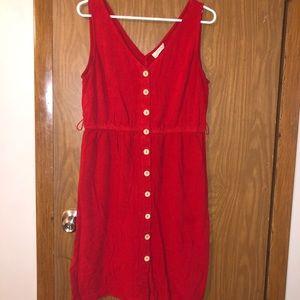 Button Up Tank Midi Dress